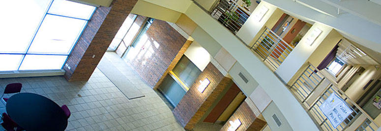 reception area at Independence campus