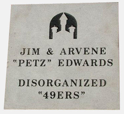 "Jim and Arvene ""petz"" edwards"