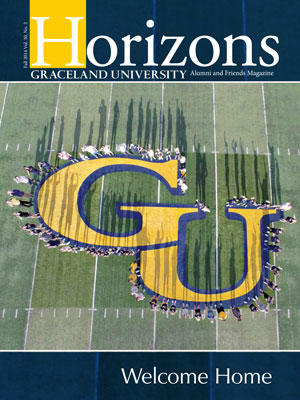 2014 Fall Graceland University Horizons magazine cover: Welcome Home