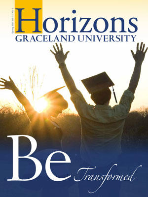 2015 Spring Graceland University Horizons magazine cover: Be Transformed