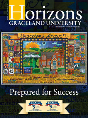 2015 Winter Graceland University Horizons magazine cover: Prepared for Success