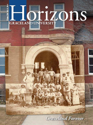 2016 Winter Graceland University Horizons magazine cover: Graceland Forever