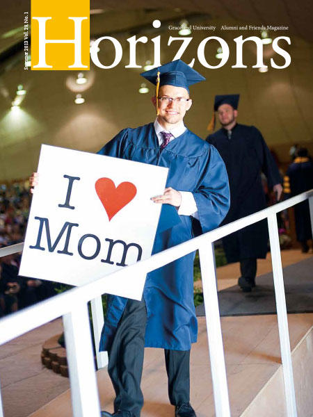 2013 Summer Graceland University Horizons magazine cover: Commencement, Winter Term Trips