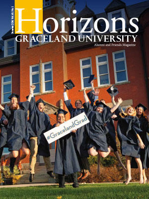 2014 Summer Graceland University Horizons magazine cover: Commencement Entrepreneurial Roundtable