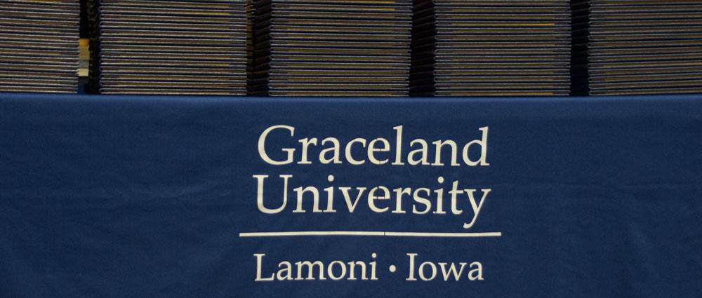 Graceland University sign