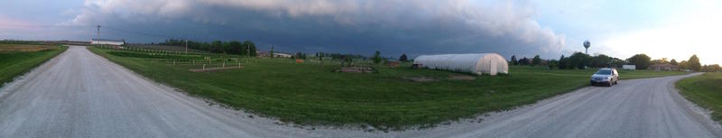 storm rolling over the eco plot