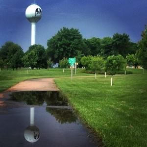 lamoni bike trail after heavy rain