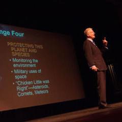 Roger D. Launius Gives Keynote for Graceland University's Scholars' Showcase