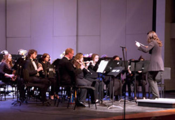Graceland's Symphonic Band performing