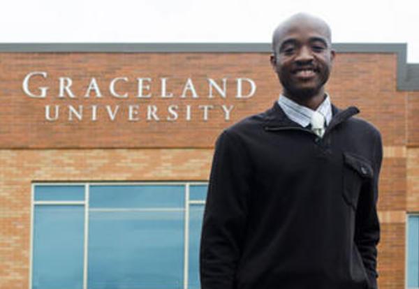 Graceland student Montel Evans `15