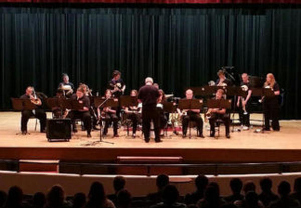 Brass band performs at Graceland's Shaw Family Auditorium