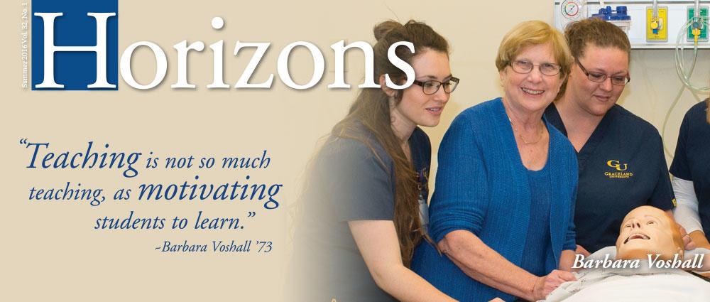 Nursing students in lab - Horizons Summer 2016