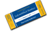 Blue and gold ticket icon