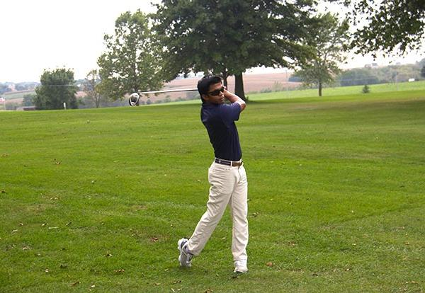 Graceland senior and golf prodigy Ujang Zarems