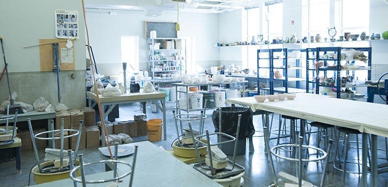 Pottery ceramics studio
