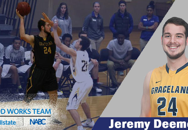 Graceland University Junior Jeremy Deemer Named to NABC Good Works Team