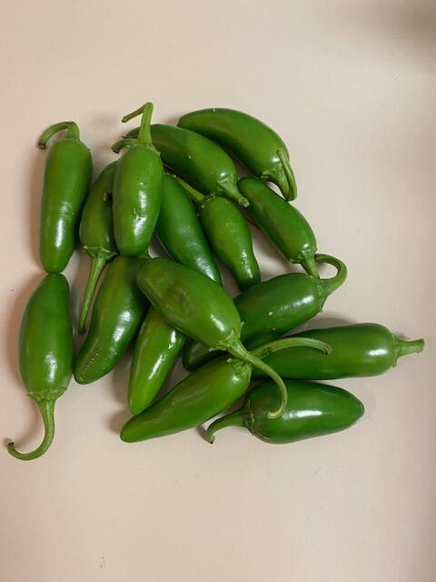 photograph of jalapeno peppers