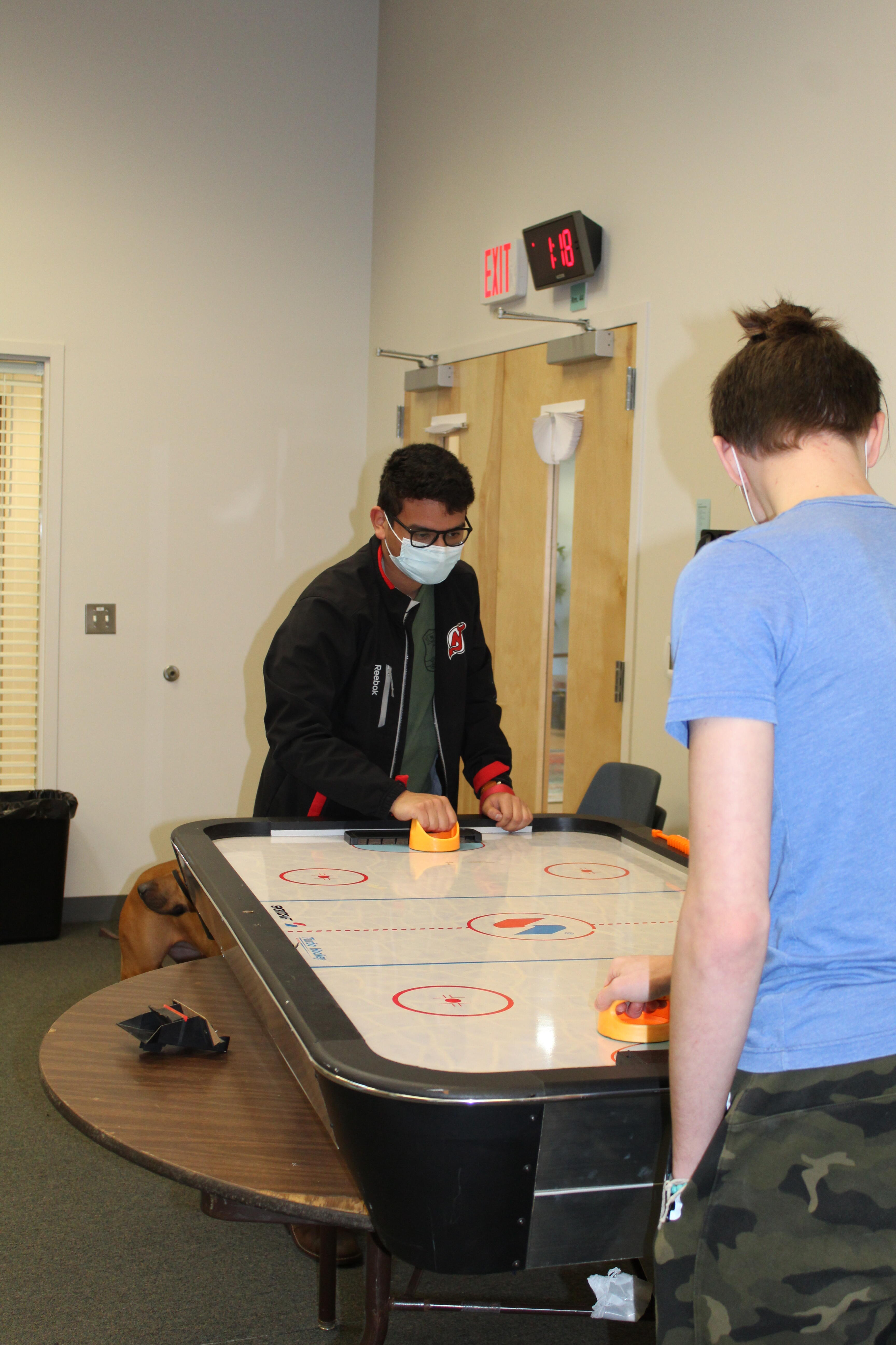 students playing a game