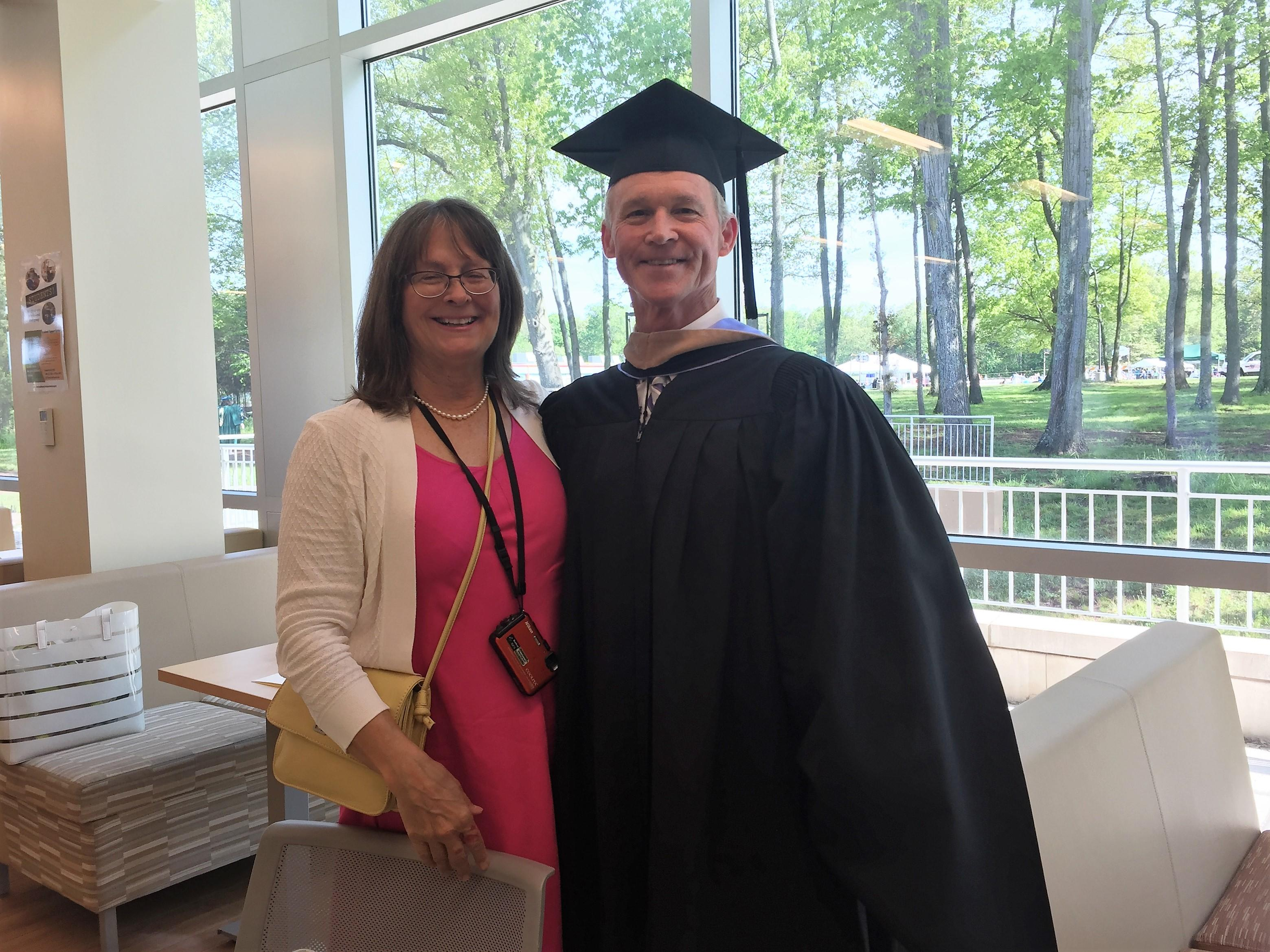 HPS Executive Director, Toby Loyd, honorary guest at RVCC commencement, with his wife.