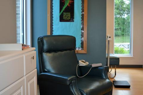 An empty chair in the nurse's office
