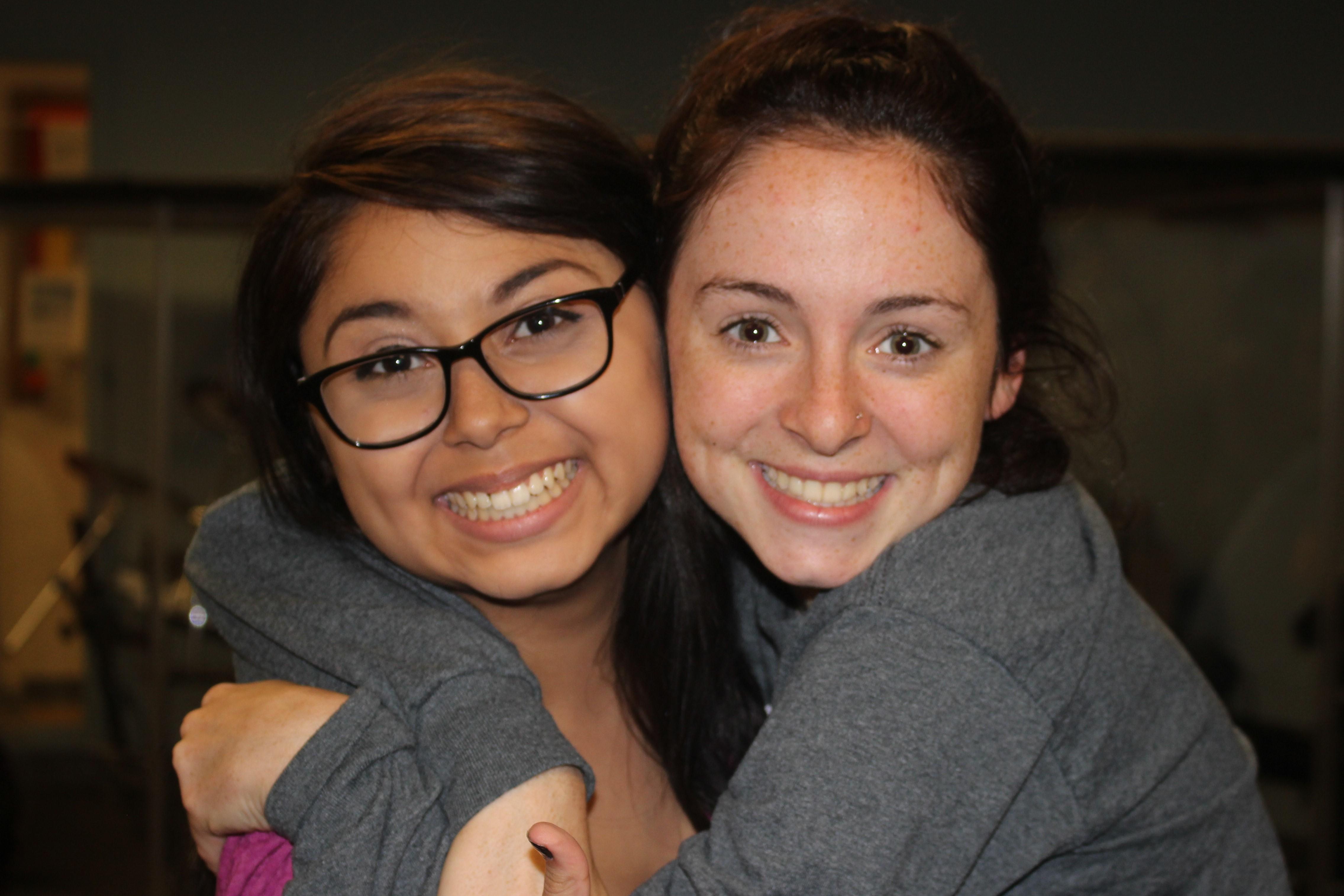 Two happy Hunterdon Prep students in the classroom