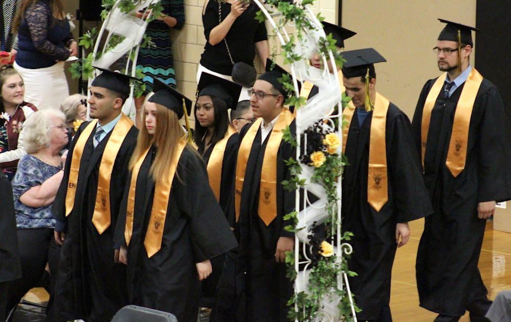 2017 EPHS graduation — student procession begins