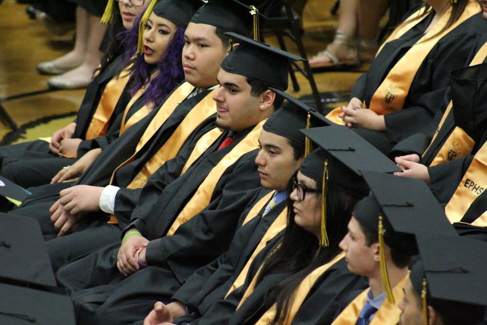2017 EPHS graduation — students seated