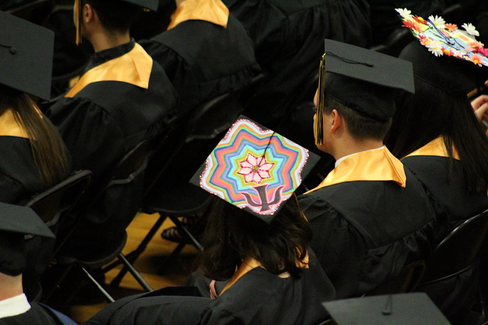 2017 EPHS graduation — student with a decorated cap