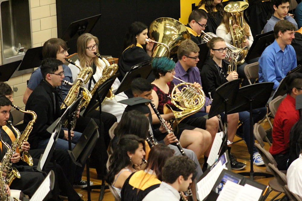 2017 EPHS graduation — band members play