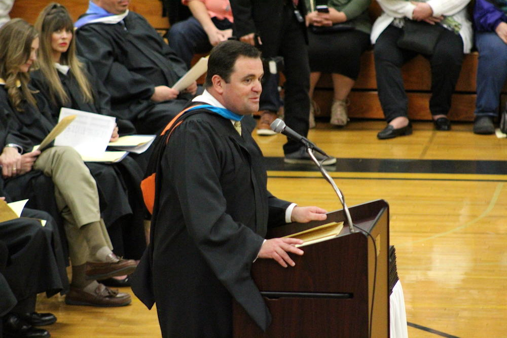2017 EPHS graduation — Principal James Jennings addresses the students