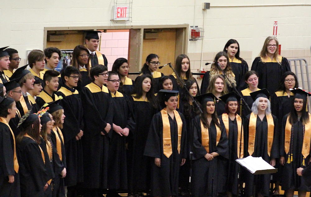 2017 EPHS graduation — choir members sing