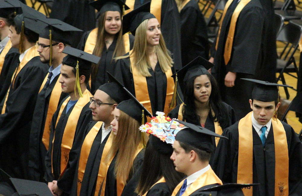 2017 EPHS graduation — students file in and take their seats