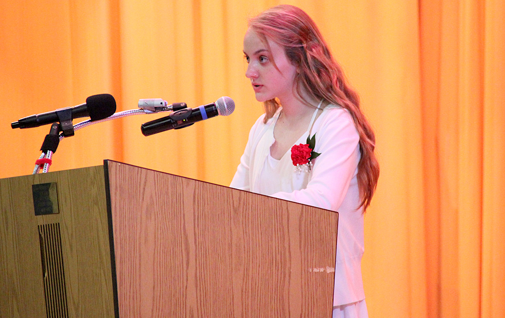 Elm Graduation 2017 — Student Maya Wojtowicz speaking
