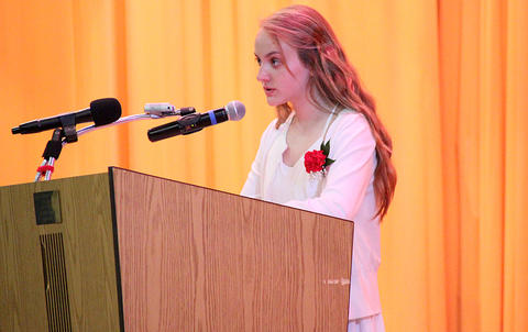 Elm Graduation 2017 — Student speaker Maya Wojtowicz addressing the audience