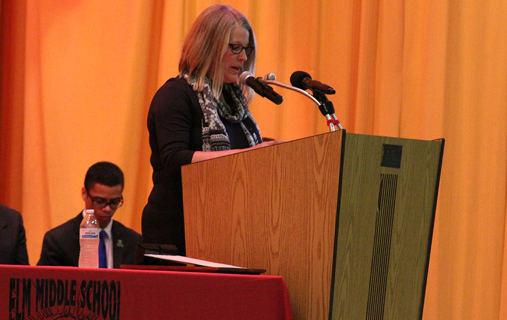 Elm Graduation 2017 — Teacher Laura Laux speaking