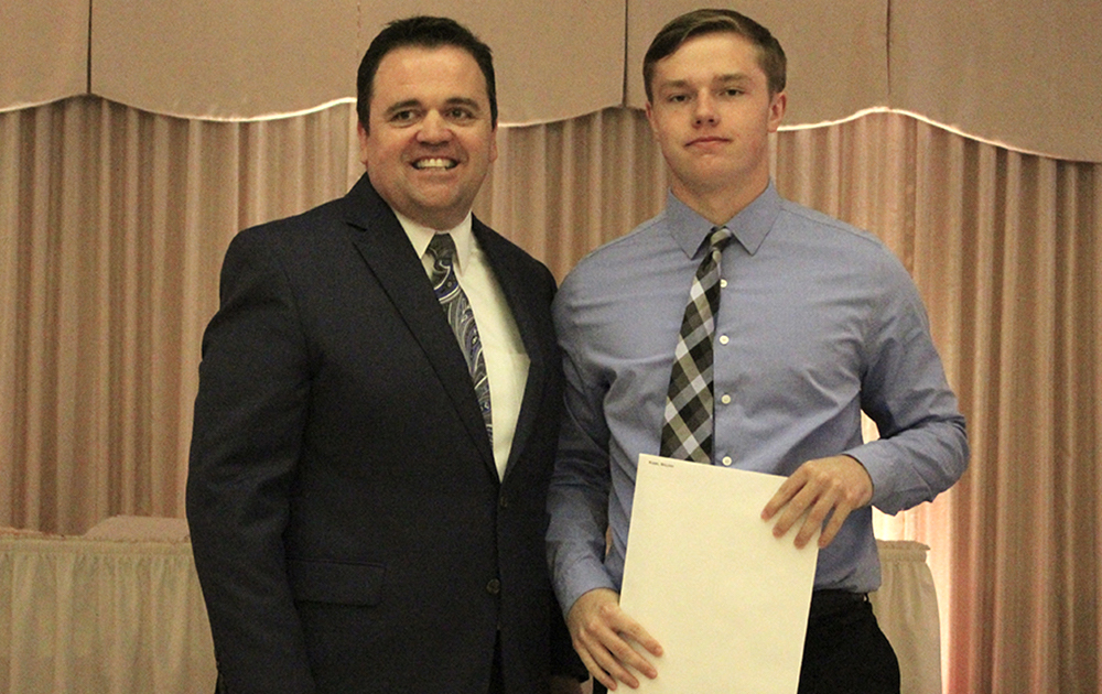 Principal James Jennings and EPHS senior William Robbs. Honors: 3.7 Honor Roll every semester, Presidential Scholar, National Honor Society.