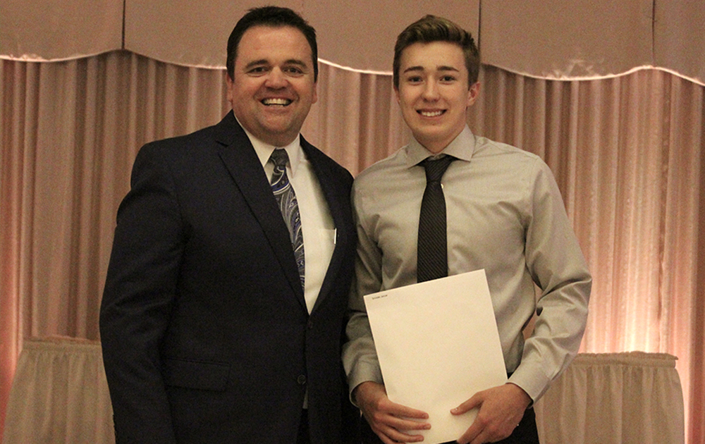 Principal James Jennings and EPHS senior Jacob Sulaski. Honors: Top 10 percent of class, Illinois State Scholar, Presidential Scholar.
