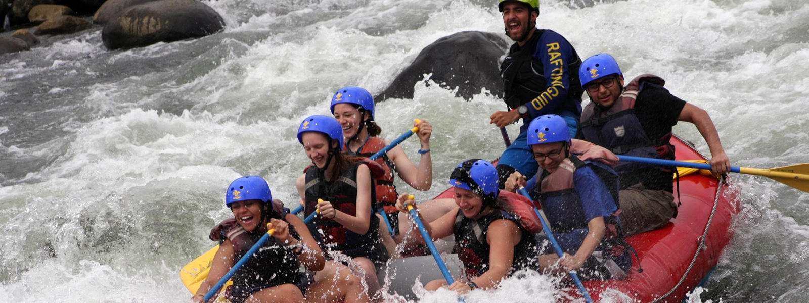 EPHS students take a raft trip in Costa Rica.