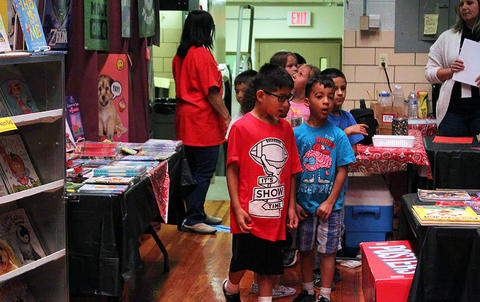 John Mills Elementary School students are amazed by the sights at the PTA's Fall 2017 Scholastic Book Fair.