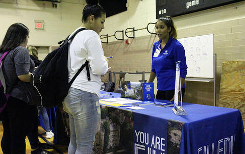 Students and college reps at 2017 EPHS College Fair.