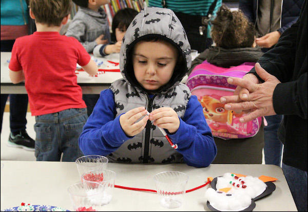 Students, Parents Get Festive with Winter Crafts at ECC Family Event