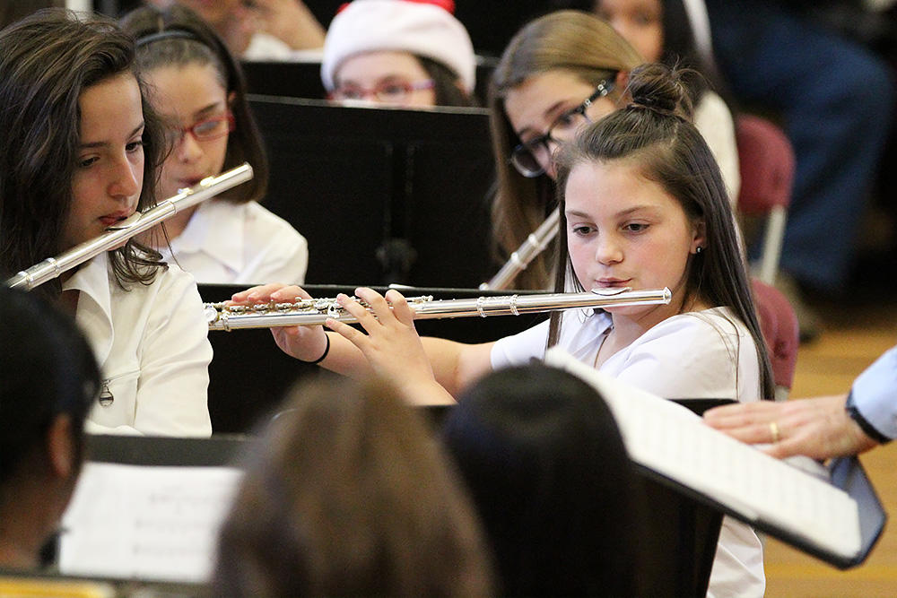 Members of the John Mills Band perform at the school's 2017 Winter Concert.