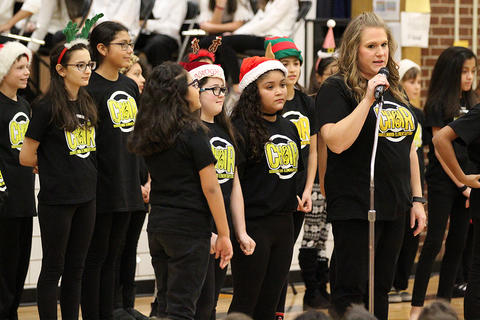Elmwood Choir members perform at the school's 2017 Winter Concert.