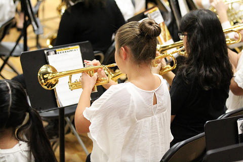 Elmwood Band members perform at the school's 2017 Winter Concert.