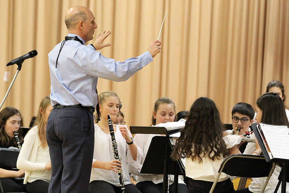 Elmwood Band members perform during the school's 2017 Winter Concert.