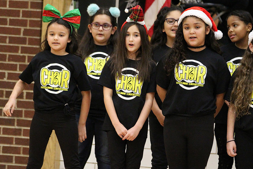 Elmwood Choir members perform during the school's 2017 Winter Concert.