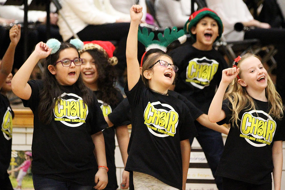 Elmwood Choir members perform at the school's winter concert.