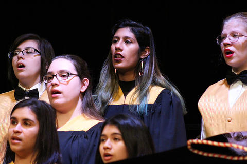 Members of the EPHS Choir Program perform during the 2017 Holiday Concert.