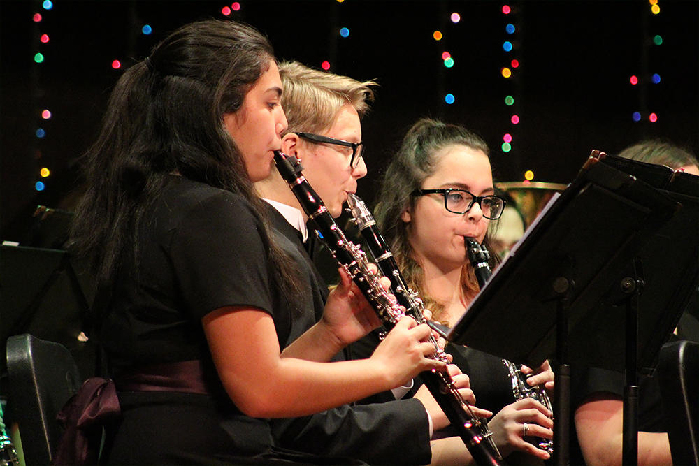 EP Band members perform at the school's 2017 Winter Concert.