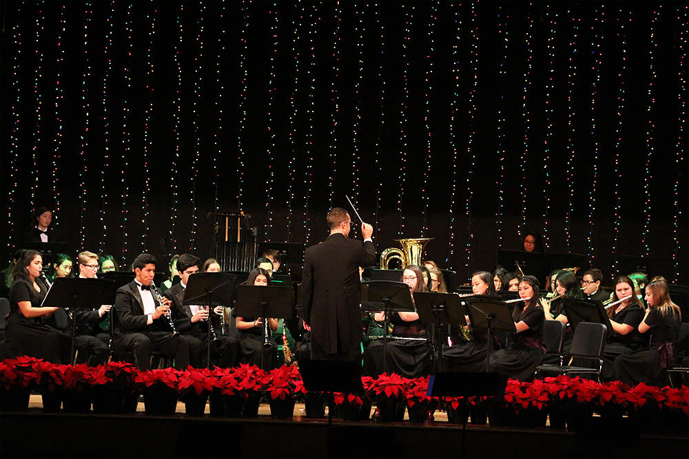 EPHS Band members perform at the 2017 Winter Concert.
